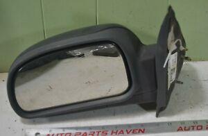 02-08 Chevy Trailblazer Envoy - Manual Driver Side View Mirror OEM Black LH Left