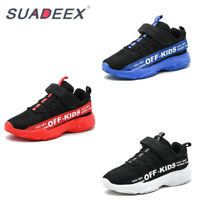 Kids Running Trainers Boys Girls Comfort Sports Althletic Shoes Mesh Sneakers UK