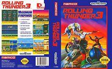 Rolling Thunder 3 Sega Genesis NTSC Replacement Box Art Case Insert Cover Scan