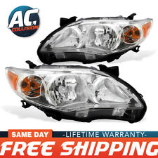 TYC Headlight Assembly Passenger & Driver Sides for 2011-2013 Toyota Corolla
