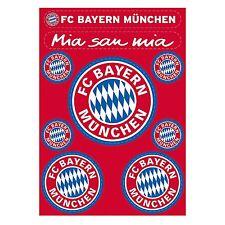 FC Bayern München Aufkleberkarte / Aufkleber  9 er  (Autoaufkleber /Sticker  )