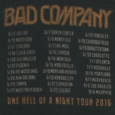 Bad Company T-Shirt One Hell Of A Night Tour 2016 Concert Dates Cities 2 Sided M