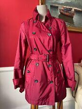 BURBERRY TRENCH COAT, raspberry color, sz S