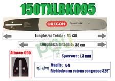 BARRA LAMA OREGON SPEEDCUT 150TXLBK095 38cm PASSO 325'' SPESSORE 1.3mm MAGLIE 64