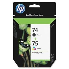 HP 74 75 Ink Jet Black and Color New Genuine Combo Pack Sealed Box Date: 2017