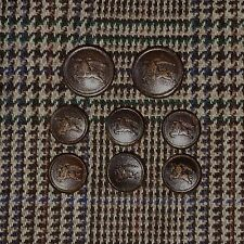 Vintage Burberrys Brown Leather Sport Coat Buttons Blazer Button Set Burberry