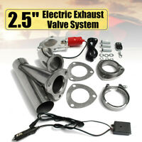 "2.5"" Electric Exhaust Valve Catback Downpipe System Kit Remote Intelligent E-Cut"