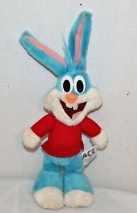 """1990's Buster Bunny Tiny Toon Adventures Doll 14"""" Plush Toy  Vintage Ace Novelty"""