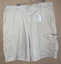 US Polo Assn Men's Size 41 Khaki Cargo Shorts Tag Says Size 40