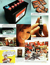 PUBLICITE ADVERTISING 096  1969   Essso le tigre  batterie bougie  outils