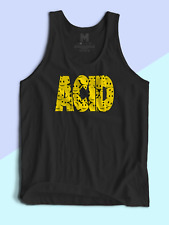 """MENS TANK TOP """"Acid House Music Smiles"""" by Rave & Misbehave"""