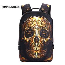 3D Skeleton Skull Cool School Backpack Travel Bag Leisure Casual Bookbag Shoulde