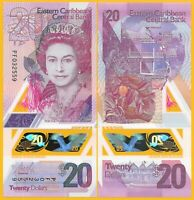 East Caribbean States 20 Dollars p-new 2019 Polymer Banknote UNC