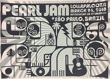 Pearl Jam - 2018 Don Pendleton Poster Sao Paulo, BRA Autodromo de Interlagos Lol