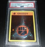 PSA 8 NM-MINT Fighting Energy WOTC HOLO PROMO 2002 League Pokemon Card