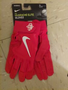 Nike Huarache Elite Leather Palm Batting Gloves RED White Size XL  PGB643 663