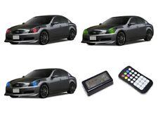 for Infiniti G37 07-09 RGB Multi Color M7 LED Halo kit for Headlights