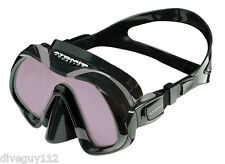 Atomic Venom ARC Dive Mask for FreeDiving Scuba Snorkeling Black/Grey