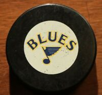 Vintage St. Louis Blues Game Puck 1987-1988 InGlasco NHL Hockey