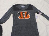 NFL Cincinnati Bengals Long Sleeved Shirt/T-Shirt Women's Medium/M NWT!