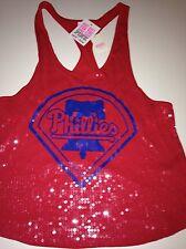 Victoria's Secret Love Pink Philadelphia Phillies Bling Tank Sequin Large MLB