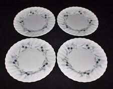 Royal Doulton, MILLEFLEUR, Gray/Blue Flowers, Swirled, LOT OF 4, Bread Plates