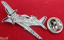P-51 Mustang Aeroplane Aircraft Pilot Lapel Pin Badge Air Force Plane