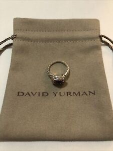 David Yurman Noblesse Ring with Pink Topaz and Diamonds