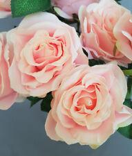 Vintage Blumenstrauß mit 10 Rosen Dekoration Aged Kunstpflanze Blume Rosa