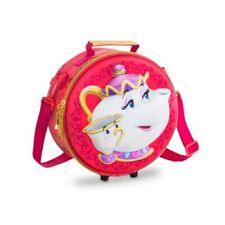 DISNEY STORE BEAUTY AND THE BEAST SCHOOL LUNCHBAG LUNCH BAG BNWT CHIP MRS POTTS