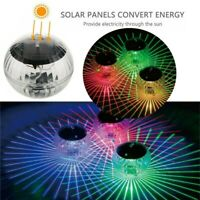 Solar LED Floating Lights Garden Pond Pool Lamp Rotating Color Change Outdoor