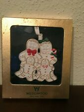 Wedgwood Gingerbread Family Christmas Ornament Wb
