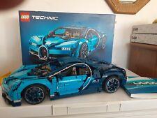 Fully Assembled LEGO Bugatti Chiron Technic w/ Box Accessories and Books (42083)