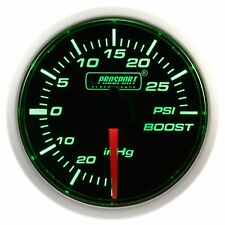 PROSPORT 52mm Green & Super White Led Smoke Mechanical Turbo Boost Gauge PSI