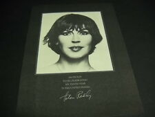 HELEN REDDY Proud Of My 10th Year In The United States 1976 PROMO POSTER AD mint