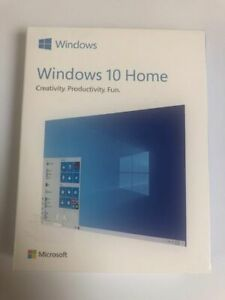 Microsoft Windows 10 Home Genuine Retail Box with Keycode, USB & COA - HAJ-00052