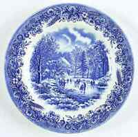 Churchill CURRIER & IVES BLUE Salad Plate 991218