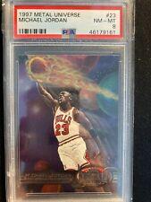 1997 Metal Universe MICHAEL JORDAN PSA 8 NBA Basketball Card Graded #23