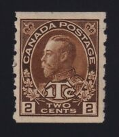 Canada Sc #MR7 (1916) 2c+1c brown Admiral War Tax Coil Mint F-VF