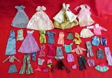 Huge Lot x38 AUTHENTIC BARBIE Doll Clothes, Gowns, Vintage, Ken