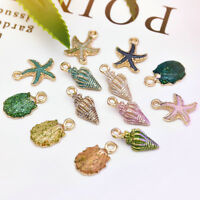 13 Pcs Conch Sea Shell Pendant Charms Jewelry Making Handmade DIY Accessories