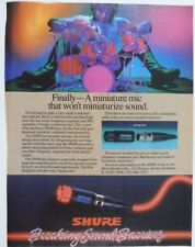 retro magazine advert 1986 SHURE SM98
