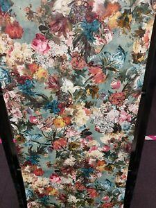 Passepartout, Teal, Bold Floral, Textured Wallpaper