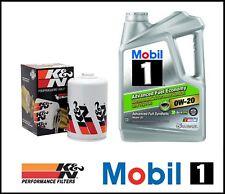 MOBIL1 0W20 ENGINE OIL CHANGE K&N FILTER KIT COMBO FOR 17-18 TOYOTA 86 GT86 2.0L