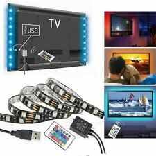 USB Powered Computer TV Backlight Kit RGB 5050 LED Light Strip Colour Change US