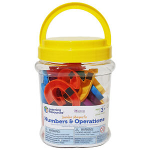 Learning Resources Jumbo Magnetic Numbers Set of 36 Numbers & Operation Symbols