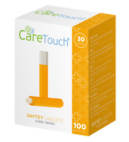 Care Touch Safety Lancets, Sleek Series, 30 Gauge - 100 Lancets