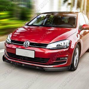 For 2014-2017 Volkswagen VW Golf MK7 Black Front Bumper Body Kit Spoiler Lip 3pc