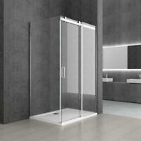 Modern L Shape Frameless Shower Enclosure Sliding Door 8mm Safety Glass