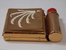 Vintage Yardley Rouge Blush Powder Compact Red Lipstick Unused NIB NEW IN BOX